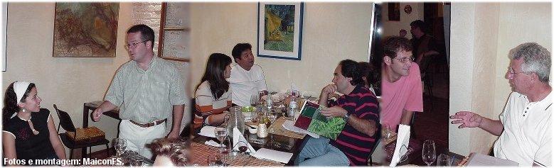 Confraria dos Prazeres - Restaurante Miró - Bragança Paulista, 16 de fevereiro de 2004.